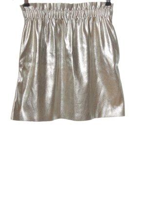Zara Minirock goldfarben Glanz-Optik