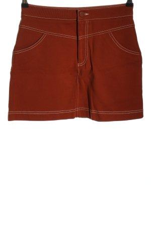 Zara Minirock braun Casual-Look