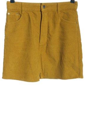Zara Minirock blassgelb Casual-Look