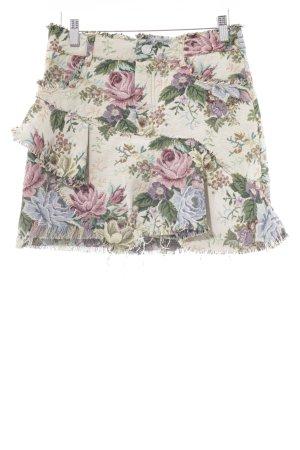 Zara Minirock Blumenmuster Casual-Look