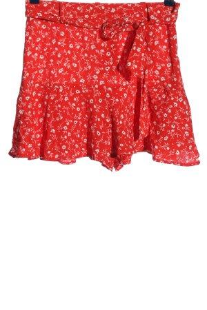 Zara Minirock rot-weiß Allover-Druck Casual-Look