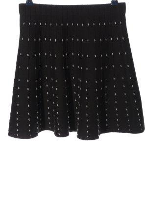 Zara Minirock schwarz-weiß Punktemuster Casual-Look