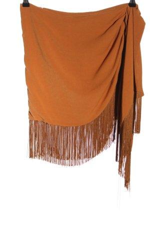Zara Minigonna arancione chiaro stile casual