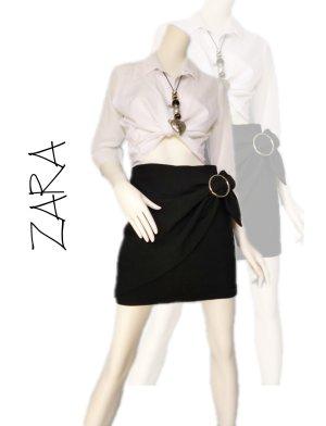 Zara Basic Gonna asimmetrica nero-oro