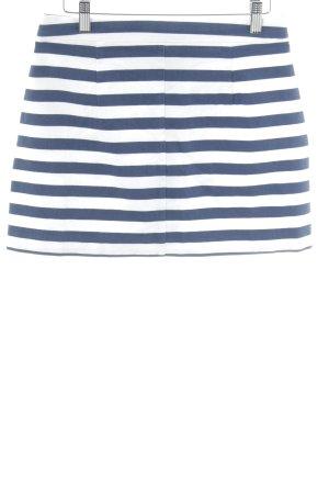 Zara Minirock wollweiß-dunkelblau Marine-Look