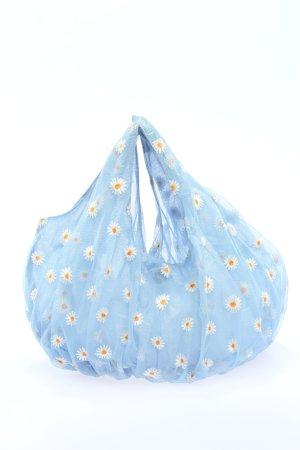 Zara Mini sac bleu-blanc imprimé allover style décontracté