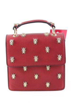 Zara Minibolso rojo-color oro estampado de animales look casual