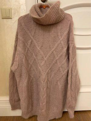 Zara Knit Cable Sweater mauve-grey lilac