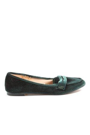 Zara Moccasins green business style