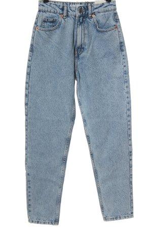 Zara Mom-Jeans blau Casual-Look