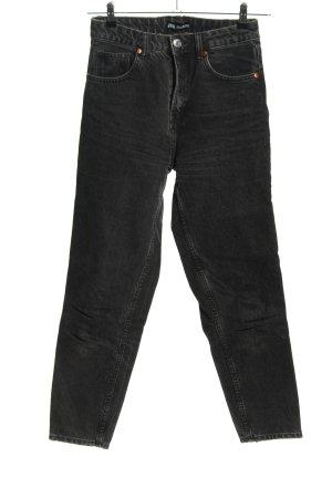 Zara Mom-Jeans hellgrau Casual-Look