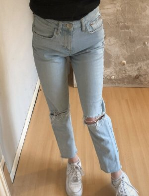 Zara Boyfriend Trousers azure