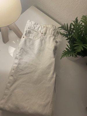 Zara Mom Jeans Damen Gr 36 weiß Neu