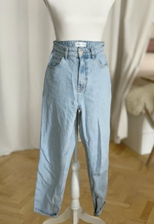ZARA Mom Jeans hellblau Waschung Vintage Taillenjeans 34 XS