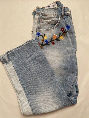Zara Mom Jeans Print 34