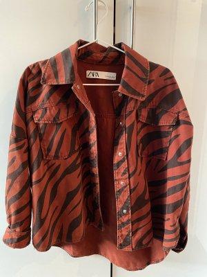 ZARA Muster Jeans-Hemd (Jacke)