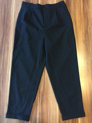 ZARA Nadelstreifen Hose Wolle high waist Gr. 38 Neu