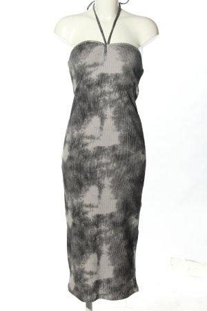Zara Robe dos-nu gris clair motif abstrait élégant