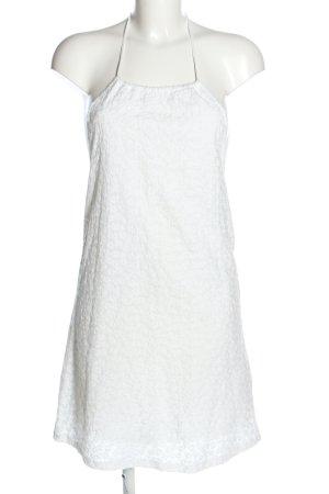 Zara Vestido de cuello Halter blanco estampado repetido sobre toda la superficie
