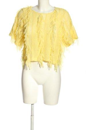Zara Top maillé jaune primevère style extravagant
