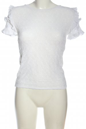 Zara Mesh Shirt white casual look