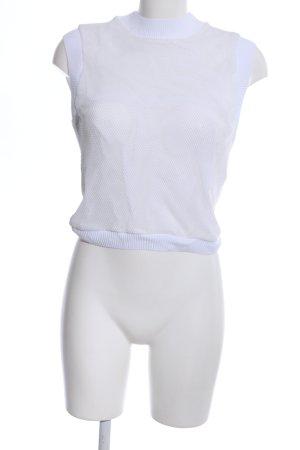 Zara Netzshirt weiß Casual-Look