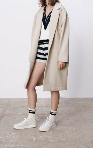 Zara Cappotto invernale crema-beige chiaro
