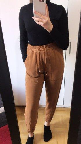 Zara neue chino Stoff Hose pants Highwaist Jogger Jogginghose M