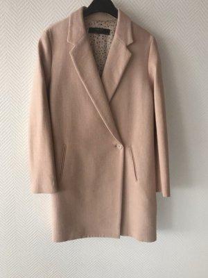 Zara Cappotto taglie forti rosa pallido-rosa antico