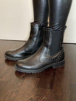 Zara Chelsea Boot noir-argenté