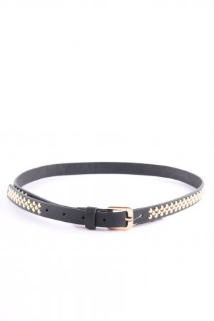 Zara Studded Belt black-gold-colored casual look