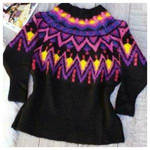 Zara Norweger Oversize Pullover aus Jacquard wolle Gr. L neu mit Etikett