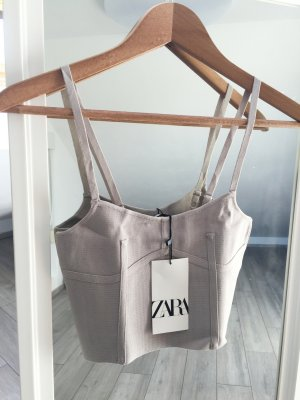Zara nude Cropped Top S