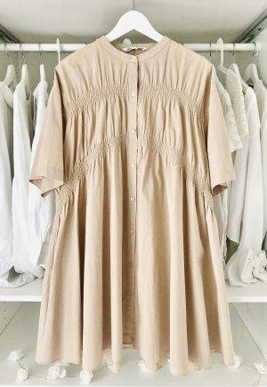 Zara nude Hemdblusenkleid