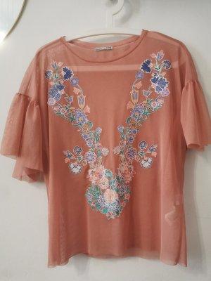 Zara Netshirt veelkleurig