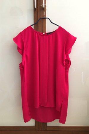 Zara Oberteil mit Flügelärmeln, rot/pink, Zara Gr. M, neuwertig