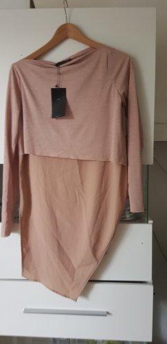 Zara Basic topje nude-stoffig roze