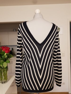 Zara Kimono Sweater white-dark blue