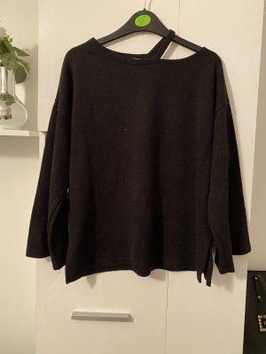 Zara Oberteil Pullover schwarz M