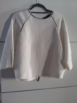 Zara Koszulka oversize cognac-w kolorze białej wełny