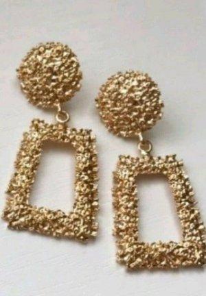 Zara Boucles d'oreille en or doré-chameau
