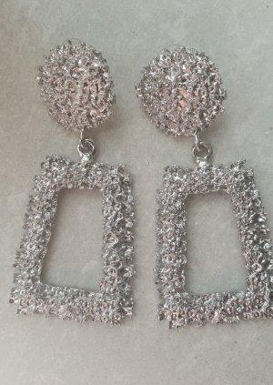 Zara Boucles d'oreilles en argent argenté