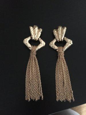 Zara Pendientes de clip color oro