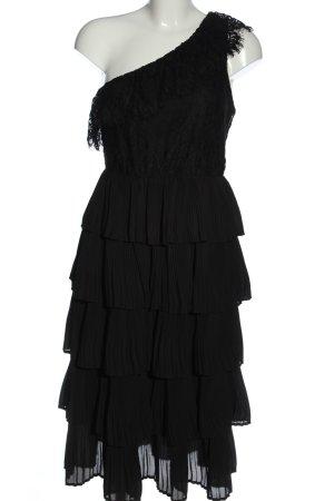 Zara Sukienka na jedno ramię czarny Elegancki
