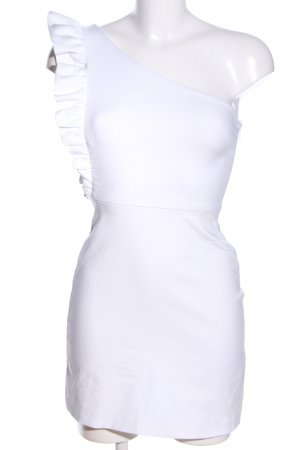 Zara One Shoulder Dress white elegant