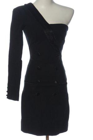 Zara Vestido de un hombro negro moteado look casual