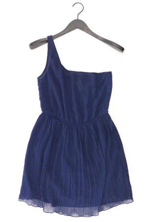 Zara Robe asymétrique bleu-bleu fluo-bleu foncé-bleu azur polyester