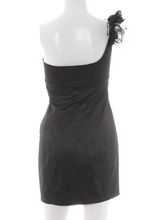 Zara One-Shoulder-Kleid schwarz Elegant