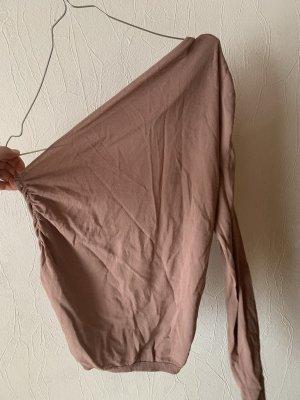 Zara Top de un solo hombro color rosa dorado