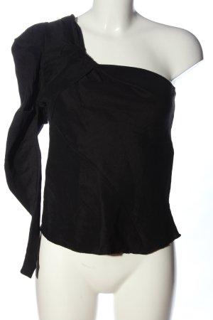 Zara One-Shoulder-Shirt schwarz Elegant